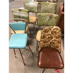 6 ast. retro chairs
