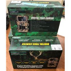 4 digital trail cameras
