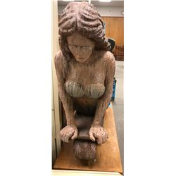 Movie Prop Mermaid from front of an old ship