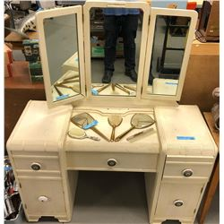 Antique Kids Vanity with Mirror