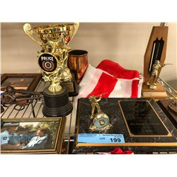 Misc plaques/ metals/ trophies
