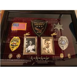 Police Badges, Crest and pins mounted - Movie Prop