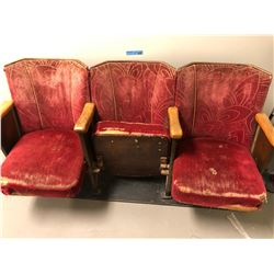 3 Theatre seats from the Vaudeville Theatre in New Westminiter