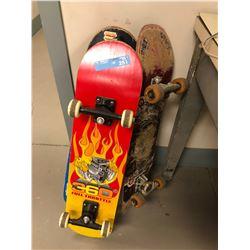 3 skateboards
