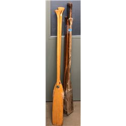 misc wooden oars