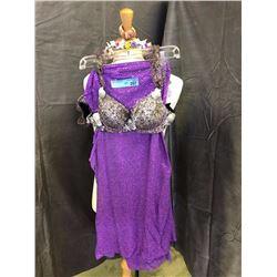 Purple costume with seashell and starfish bra