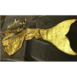 golden mermaid costume with fin