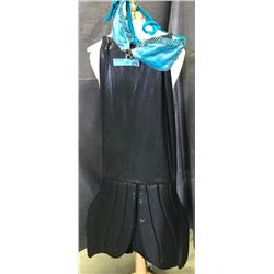 Mermaid costume - black shirt and light blue top