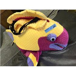 Kids fish costume (yellow and maroon)