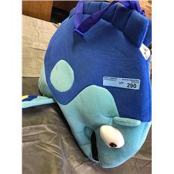 kids fish costume (dark blue)