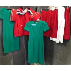 Complete multiple air hostess costumes