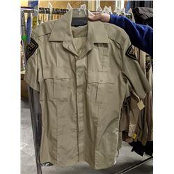Complete Sheriff Uniforms Rack - Short Sleeve, Long Sleeve, Pants