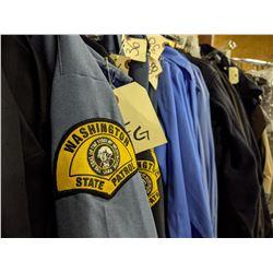 Washington State Patrol Troopers Complete Uniform Rack
