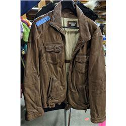 7 Carbon and 2 Cobalt Brown Vintage Leather Jackets
