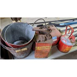 Miscellaneous Gas Cans and Buckets