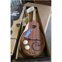 Seagul 4 string Guitar with sea shell design and Strap
