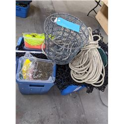 Buckets of Fishing Net