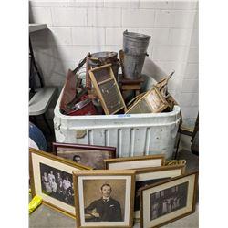 tub of vintage laundry equipment