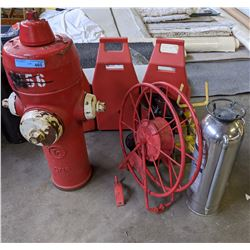 vintage fire hydrants and other fire fighting equipments