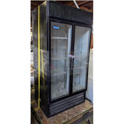 2 glass door fridge
