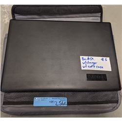 Lenovo laptop with charger and swiss alps bag
