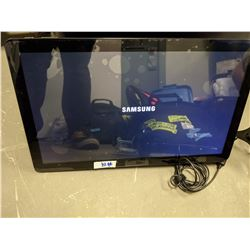 Samsung Galaxy View touch screen computer with charger and insignia flex arm