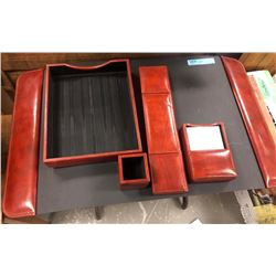 Bosca Leather Desk Set and Various Movie Set Photos, menus files and etc