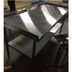 72 x 30 stainless steel table