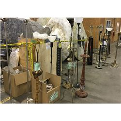Approx 20 floor lamps