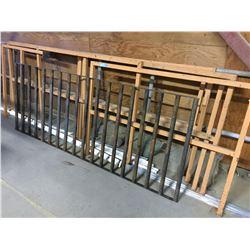 Sorted metal railing