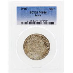1946 Iowa Commemorative Half Dollar Coin PCGS MS66