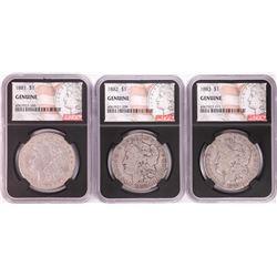 Lot of 1881-1883 $1 Morgan Silver Dollar Coins NGC Genuine