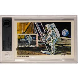 Rare Neil Armstrong Signed Autograph on Post Card Beckett Authenticated
