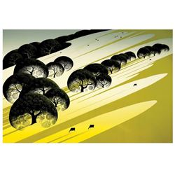 "Eyvind Earle (1916-2000) ""Cattle Country"" Limited Edition Serigraph"