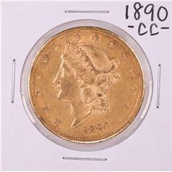 1890-CC $20 Liberty Head Double Eagle Gold Coin