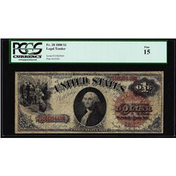 1880 $1 Legal Tender Note Fr.28 PCGS Fine 15