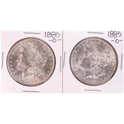 Lot of (2) 1885-O $1 Morgan Silver Dollar Coins