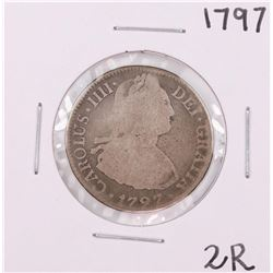 1797 F.M. Mexico 2 Reales Silver Coin