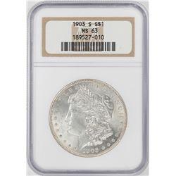 1903-S $1 Morgan Silver Dollar Coin NGC MS63