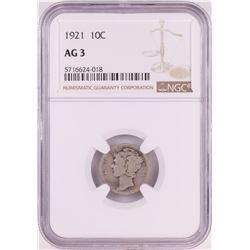 1921 Mercury Dime Coin NGC AG3