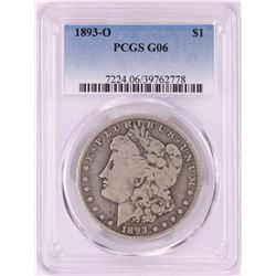 1893-O $1 Morgan Silver Dollar Coin PCGS G06