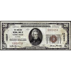 1902 $20 The Douglass National Bank of Chicago, IL CH# 12227 National Currency Note