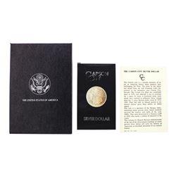 1882-CC $1 Morgan Silver Dollar Coin GSA Hoard with Box & COA Nice Toning