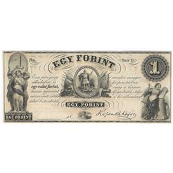1800s $1 Egy Forint Obsolete Bank Note