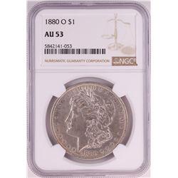 1880-O $1 Morgan Silver Dollar Coin NGC AU53