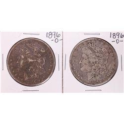 Lot of (2) 1896-O $1 Morgan Silver Dollar Coins