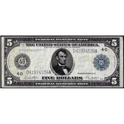 1914 $5 Federal Reserve Note Cleveland