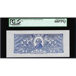 $50 Chemicograph Back Confederate Currency Note PCGS Superb Gem New 68PPQ