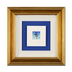 """Peter Max """"Star Catcher on Blue"""" Limited Edition Lithograph"""