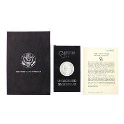 1882-CC $1 Morgan Silver Dollar Coin GSA Hoard Uncirculated with Box & COA